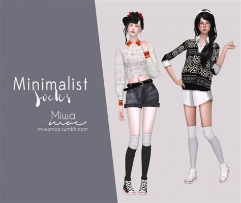 minimalist socks minimalist socks at miwamoe 187 sims 4 updates
