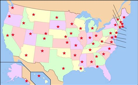 usa map with all states and capitals map of the united states and capitals quiz
