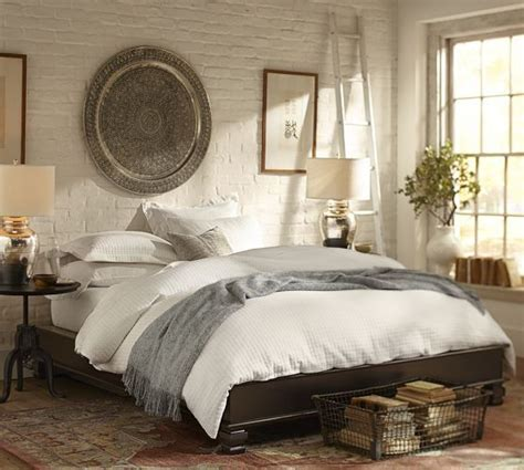 pottery barn bedroom cheswick platform bed pottery barn bedroom pinterest