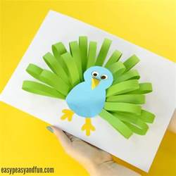 Easy Halloween Crafts Kids - paper peacock craft easy peasy and fun