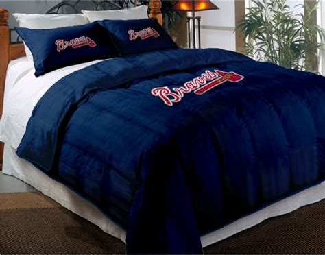 atlanta braves comforter atlanta braves mlb twin chenille embroidered comforter set