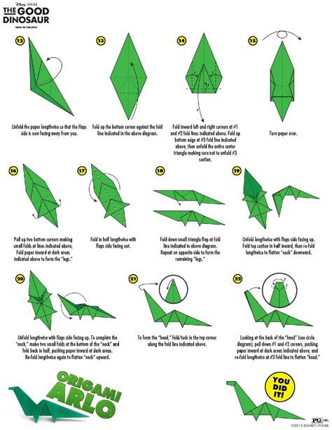 Origami Flying Dinosaur - origami flying dinosaur images craft decoration ideas