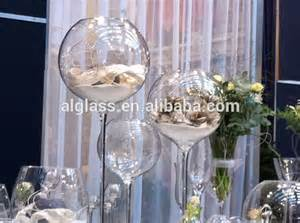 Tall Wine Glass Shaped Vase Clear Wine Glass Shape Long Stem Candle Holder Tall Wine