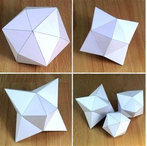 3d Shapes Paper Folding - polyhedra shapes site with hundreds of templates free