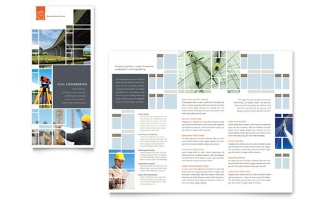 engineering brochure templates free civil engineers tri fold brochure template word publisher