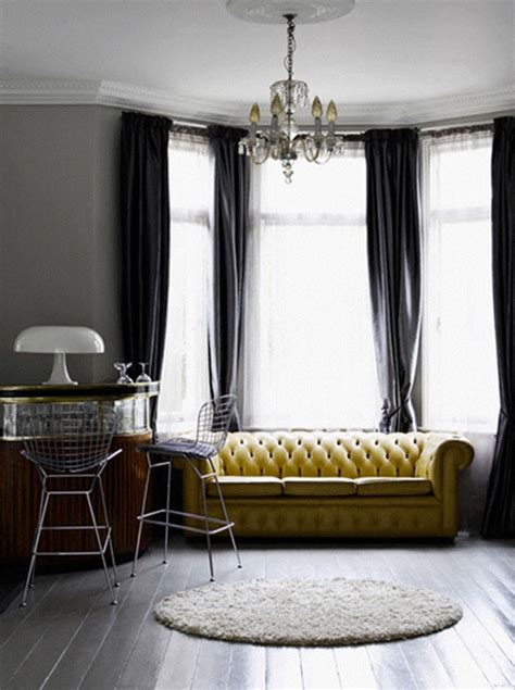 curtain color for gray walls yellow grey