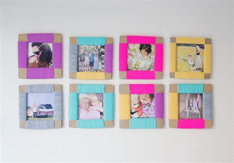 How To Make A Paper Photo Frame - how to make a cardboard diy photo frame