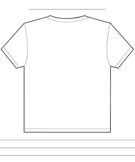 Shirt Template Back t shirt template front and back studio design
