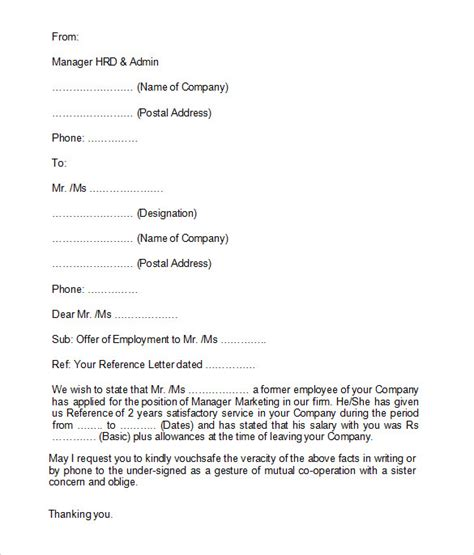 Employment Confirmation Letter Format For Bank Employment Verification Letter 14 Free Documents In Pdf Word