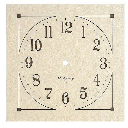 printable paper clock dials 7 7 8 quot small mission parchment paper clock dial klockit