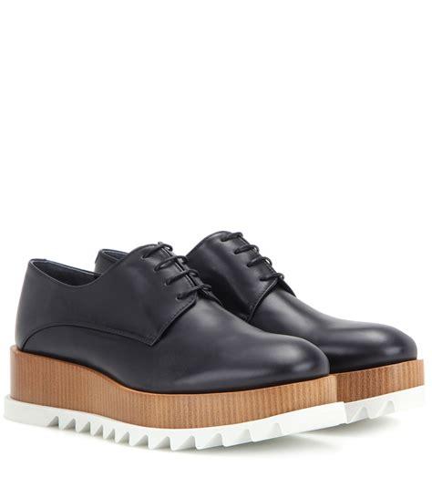 Jil Sander Shoe 2 by Jil Sander Platform Leather Derby Shoes In Black Lyst