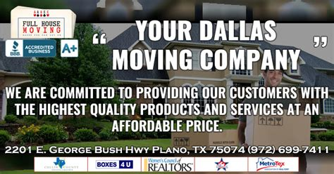 full house movers full house moving 2201 e george bush hwy moving