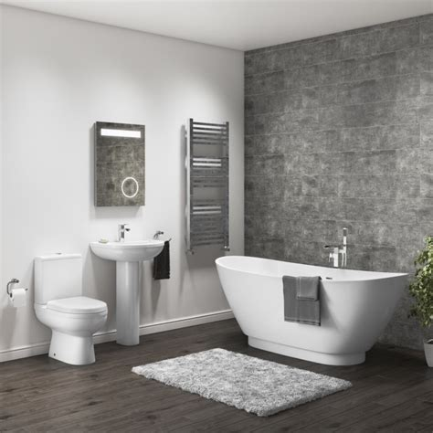 Modern Bathroom Suites Uk by Modern Curved Freestanding Bath Suite Appliances Direct