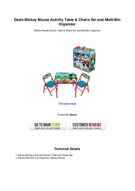 mickey mouse activity table set deals mickey mouse activity table chairs set and multi bin