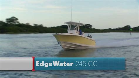 edgewater boats youtube edgewater power boats 245cc review youtube