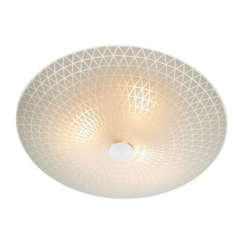 Lighting For Low Ceilings Colby Circular Frosted Glass Flush Ceilling Light