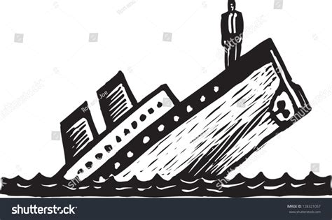 boat sinking drawing sinking boat drawing black white vector illustration