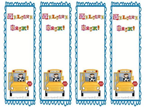 printable bookmarks for elementary students classroom freebies too susan hardin s quot welcome back to