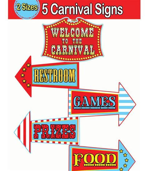 carnival sign template carnival signs template clipart best