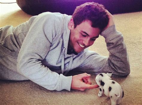 His adorable pet piglet which means it s time for a baby pig party