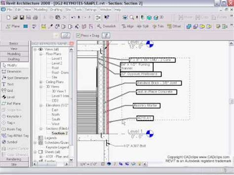 revit tutorial in tamil cadclip revit architecture keynote schedules