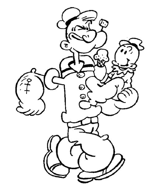 popeye coloring pages coloringpagesabc com