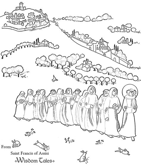 free coloring pages of st clare of assisi