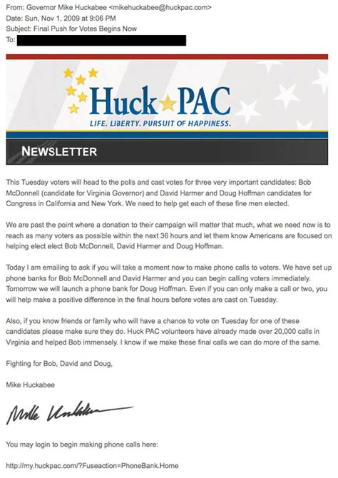 Petition Against Gop Letter Huckabee Used Fox News Show To Collect Email Addresses For Gop Backed Candidates Spursreport