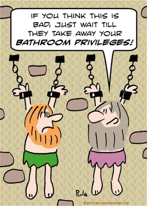 Bathroom Privileges Hanging Pris By Rmay Philosophy Cartoon Toonpool