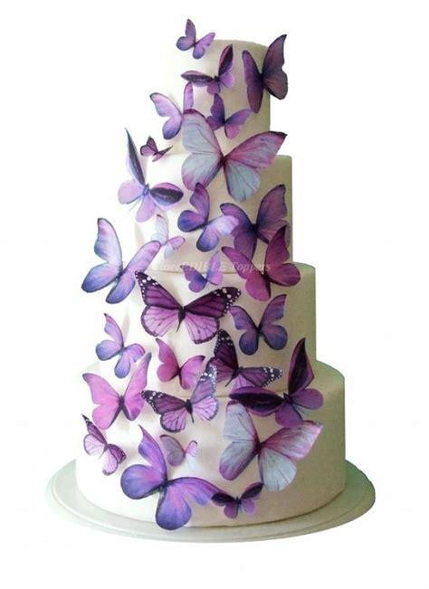 Wedding Cake Topper   Edible Butterfly Winter WEDDING