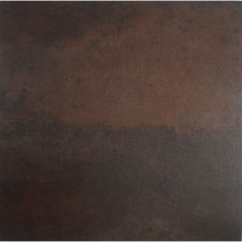 shop style selections 1 piece 12 in x 12 in rust stained peel and stick concrete vinyl tile at