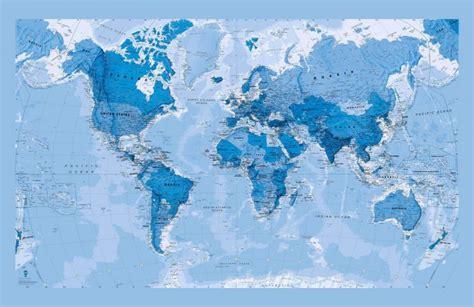 Blue World blue world map wallpaper