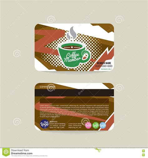 digimon card template front and back front and back coffee voucher of member card template