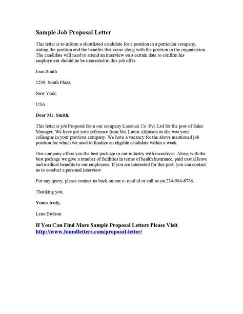sample job proposal letter letters issuu