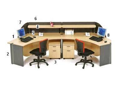 Meja Workstation highpoint 4 meja kantor nine series warna oxford cherry high point nine