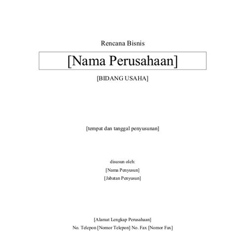 contoh cover letter business plan contoh cover business plan contoh 36