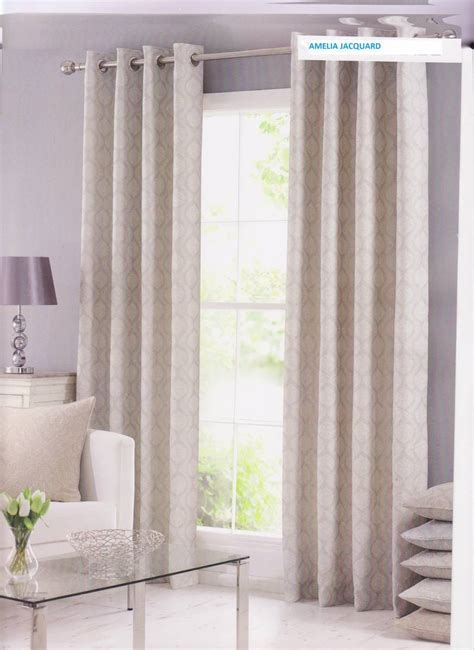 ivory lined curtains amelia ivory fully lined jacquard curtains eyelet or