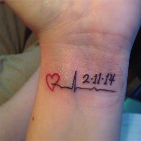 remembrance wrist tattoos my memorial for nana this is last heartbeat