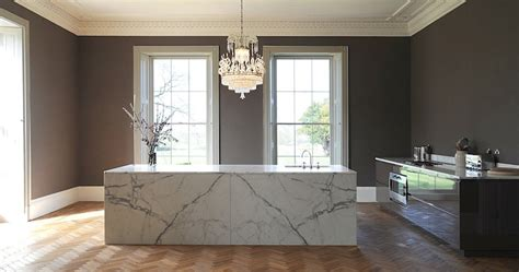 marble island kitchen luxury kitchens with large islands artichoke