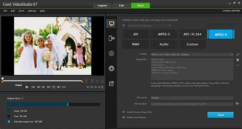 corel draw x7 video editing sharing workspace