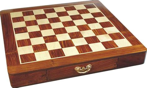 Chess Board With Drawers by Wooden Inlaid Chess Board Box With Drawers
