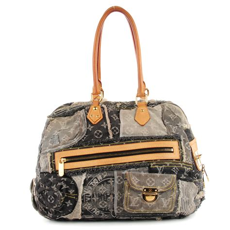 Louis Vuitton Patchwork - louis vuitton denim patchwork speedy 30 gray 117276