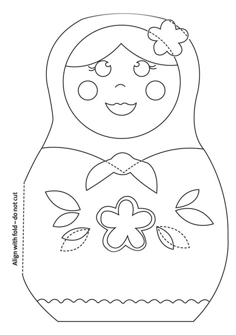 make this cute russian doll card craft templates