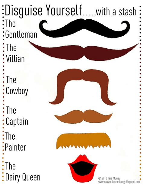 mustache disguise printable template mamacheemamachee