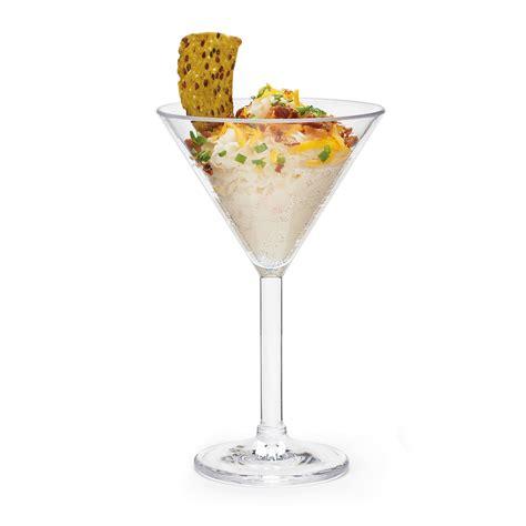martini glass acrylic 10 oz plastic martini glass set of 4