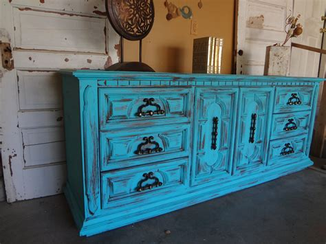 Shabby Chic Turquoise Dresser by Etsy Your Place To Buy And Sell All Things Handmade
