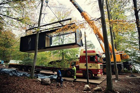 1 Bedroom Cabin Plans these minimalist prefab cabins are designed for human
