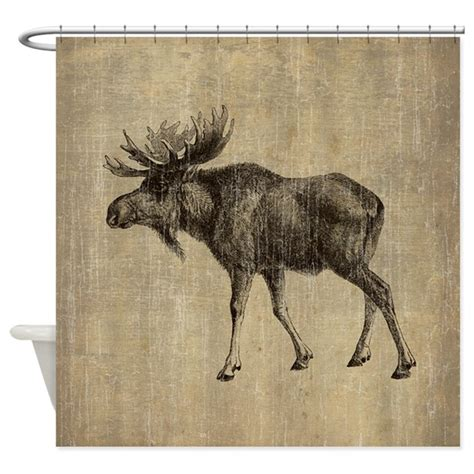 moose shower curtains vintage moose shower curtain by esangha
