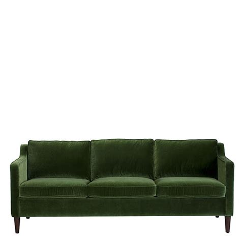 belmont sofa green velvet sofas living room