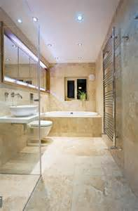 travertine tiles in the bathroom designs with natural